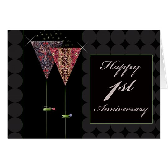Cheers - Happy 1st Anniversary Card