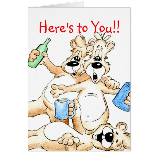 Cheers, Here's to You!! Card