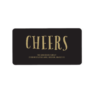 Cheers! | Holiday Address Labels