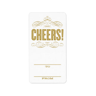 CHEERS! | HOLIDAY GIFT TAGS ADDRESS LABEL