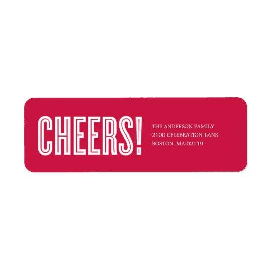 CHEERS! | HOLIDAY GIFT TAGS RETURN ADDRESS LABEL