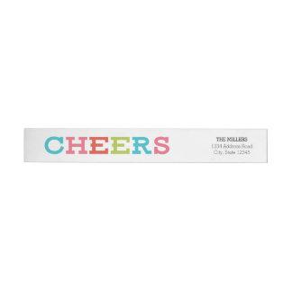 Cheers Holiday Return Address Wrap Labels Wraparound Return Address Label