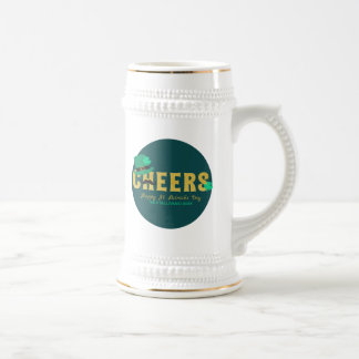 Cheers Leprechaun Hat & Shamrock St Patricks Day Beer Stein