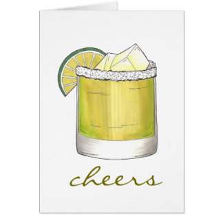 Cheers! Margarita Cocktail Cocktails w/ Salt Lime Card