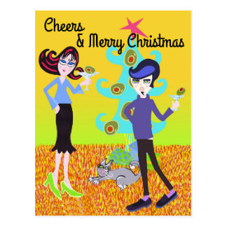 Cheers & Merry Christmas Postcard
