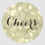 Cheers on Champagne Bubbles Sticker