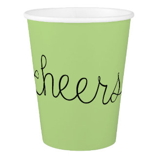 Cheers Paper Cup Party Decor Drinkware