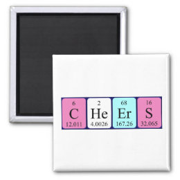 Elements spelling words periodic table gifts on zazzle au cheers periodic table word magnet urtaz Images