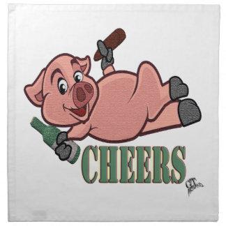 Cheers Pig Napkin