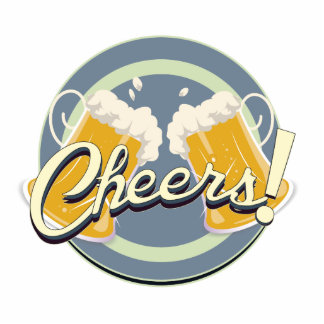 Cheers! Pub Sign Standing Photo Sculpture