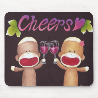 Cheers Sock Monkeys Mousepad