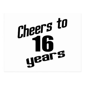 Cheers to 16 years postcard