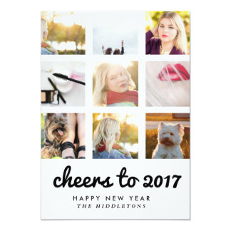 Cheers To 2017 | Instagram Nine Photos | New Year Card