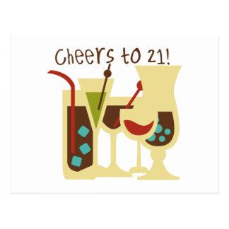 Cheers to 21 Birthday Postcard