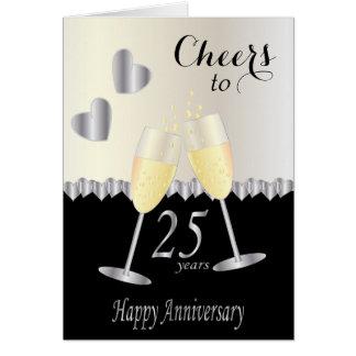 Cheers to 25 years Anniversary Card