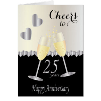 Cheers to 25 years Anniversary   DIY Text Card