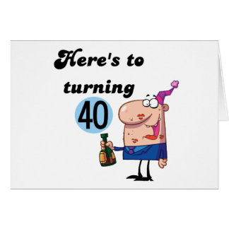Cheers to 40 Birthday Tshirts and Gifts Card