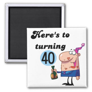 Cheers to 40 Birthday Tshirts and Gifts Square Magnet