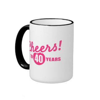 Cheers to 40 years birthday coffee mugs