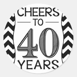 Cheers to 40 Years Classic Round Sticker