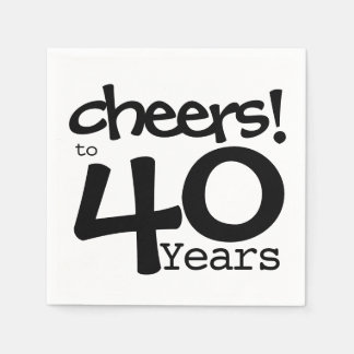 Cheers to 40 years paper napkins