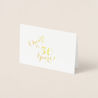 Cheers to 50 Years Mini Card