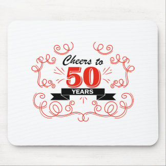 Cheers to 50 years mouse pad