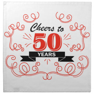 Cheers to 50 years napkin