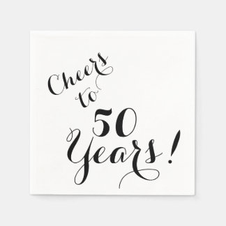 Cheers to 50 Years Paper Napkins Disposable Napkin