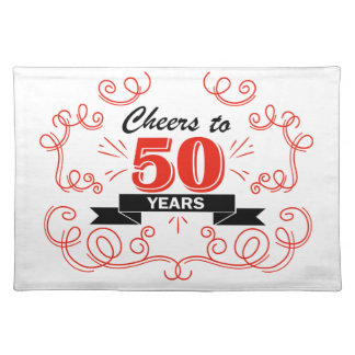 Cheers to 50 years placemat