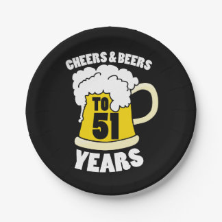 Cheers to 51 years paper plate