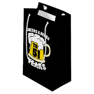 Cheers to 51 years small gift bag