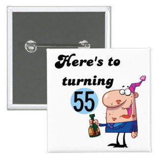 Cheers to 55 Birthday T-shirts and Gifts 15 Cm Square Badge
