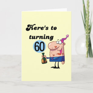 Cheers To 60 Birthday Tshirts And Gifts Card