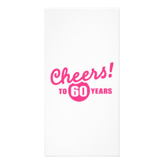 Cheers to 60 years birthday personalized photo card