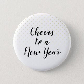 Cheers To A New Year Chic Holiday Party 6 Cm Round Badge