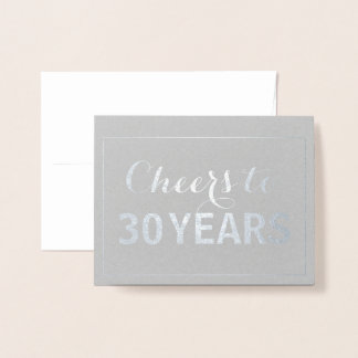 Cheers to Any Age Years Birthday Foil Card