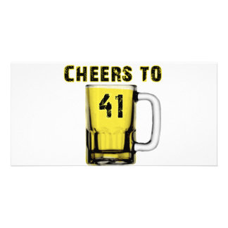Cheers to Fourty One Birthday Photo Cards