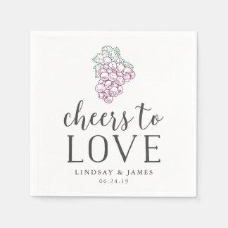 Cheers to Love Wedding Cocktail Disposable Serviette