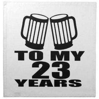 Cheers To My 23 Years Birthday Napkin