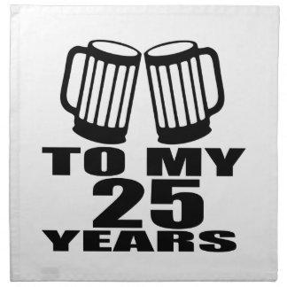 Cheers To My 25 Years Birthday Napkin