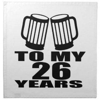 Cheers To My 26 Years Birthday Napkin