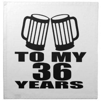 Cheers To My 36 Years Birthday Napkin
