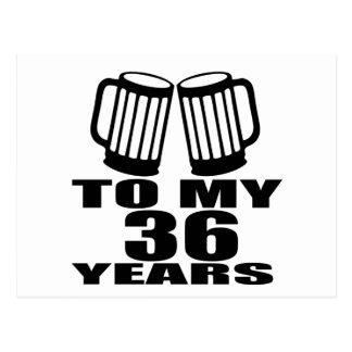 Cheers To My 36 Years Birthday Postcard