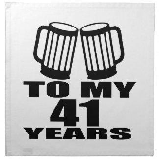 Cheers To My 41 Years Birthday Designs Napkin