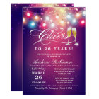 Cheers To Retirement Party Champagne String Lights Card