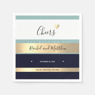 cheers! wedding cheers to love elegant disposable serviette