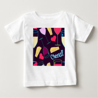 Cheers Wine Party Pattern Baby T-Shirt