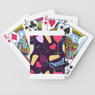 Cheers Wine Party Pattern Bicycle Playing Cards