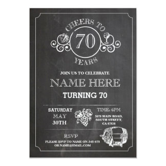Cheers Wine Tasting Chalk Birthday Party Invite